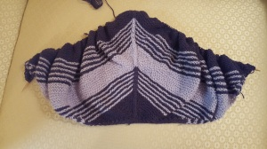 Hooded Shawl - Unfinished